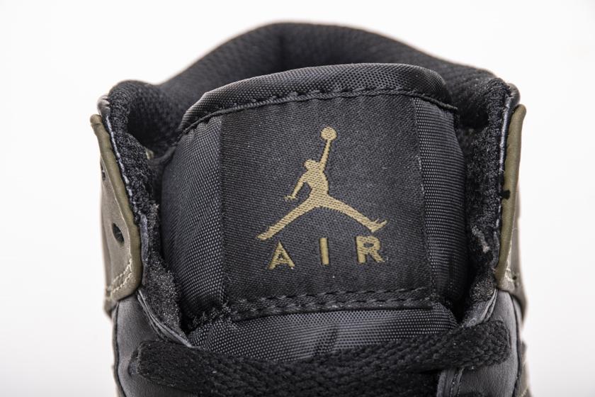Air Jordan 1 Retro Mid GS Olive Canvas 13