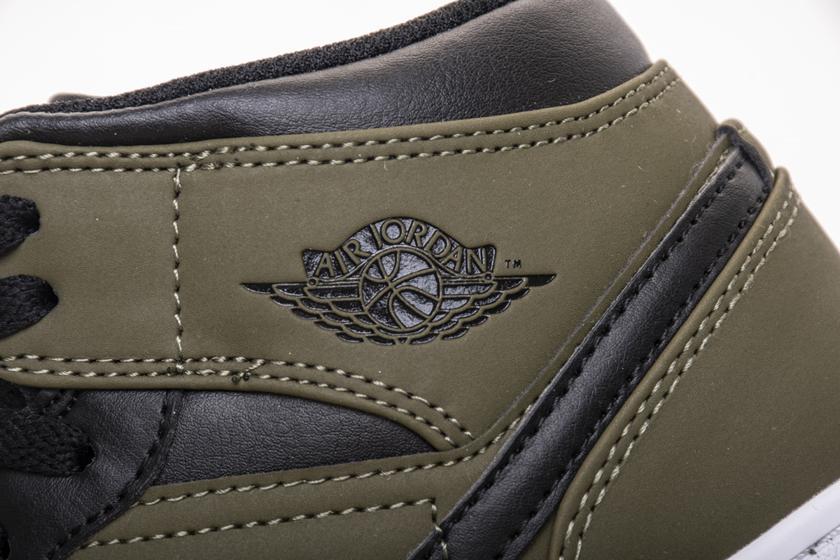 Air Jordan 1 Retro Mid GS Olive Canvas 8