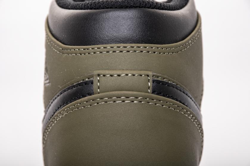 Air Jordan 1 Retro Mid GS Olive Canvas 9