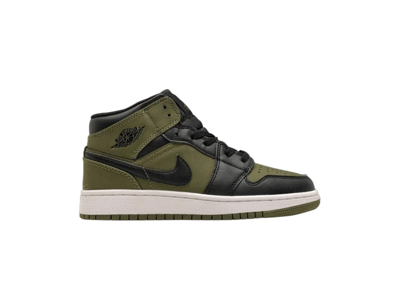 Air Jordan 1 Retro Mid GS Olive Canvas