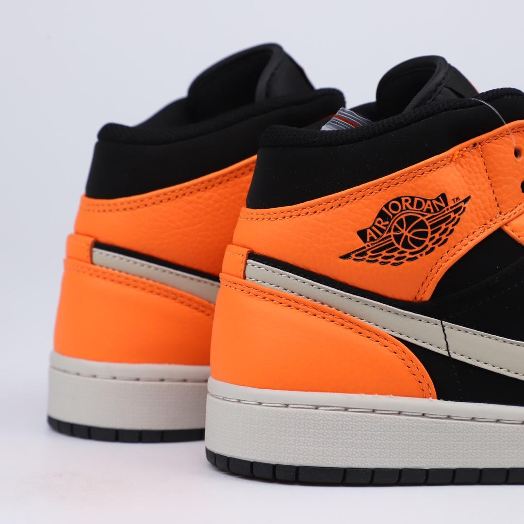Air Jordan 1 Retro Mid GS Orange Black 2