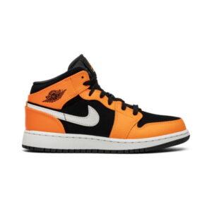 Air Jordan 1 Retro Mid GS Orange Black