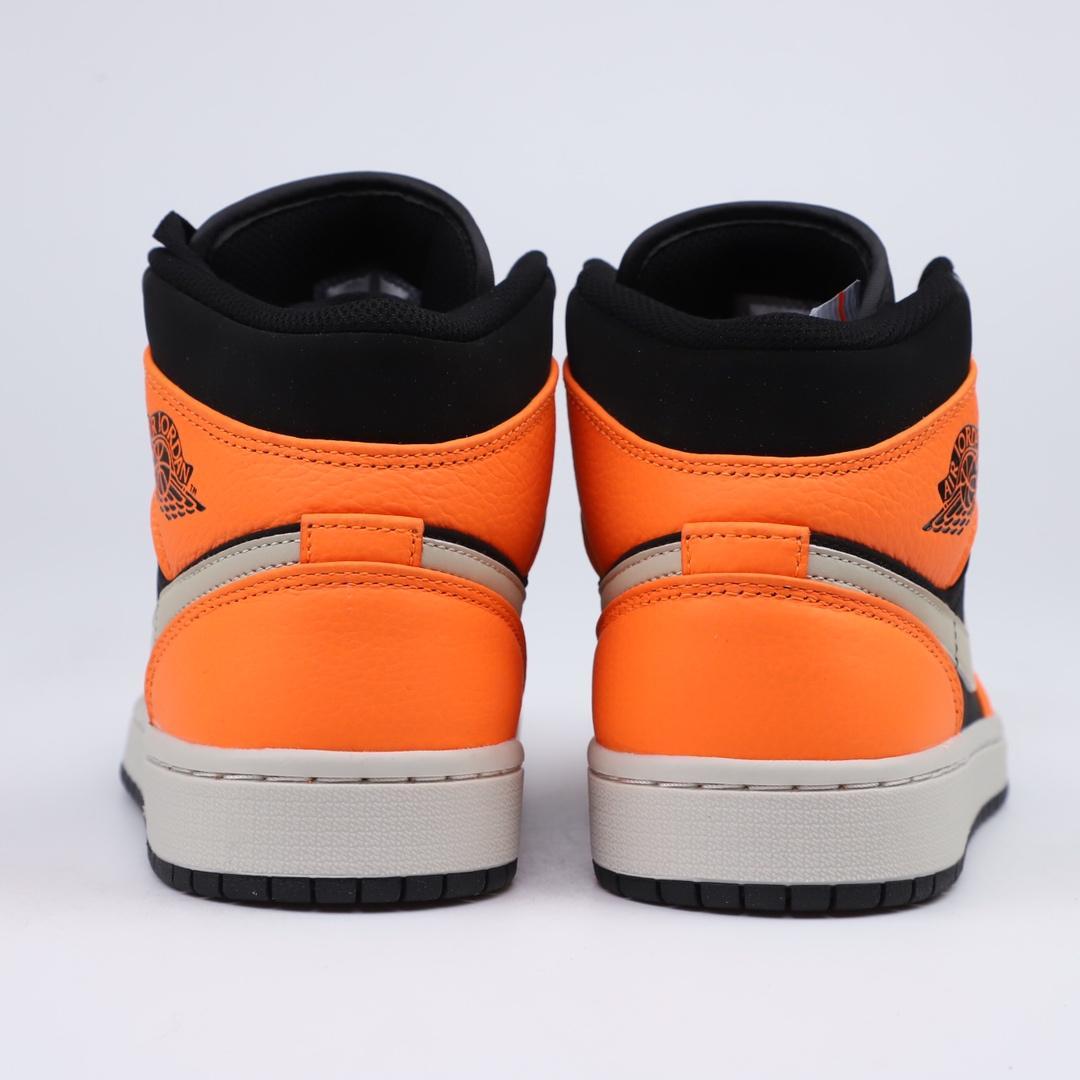 Air Jordan 1 Retro Mid GS Orange Black 5
