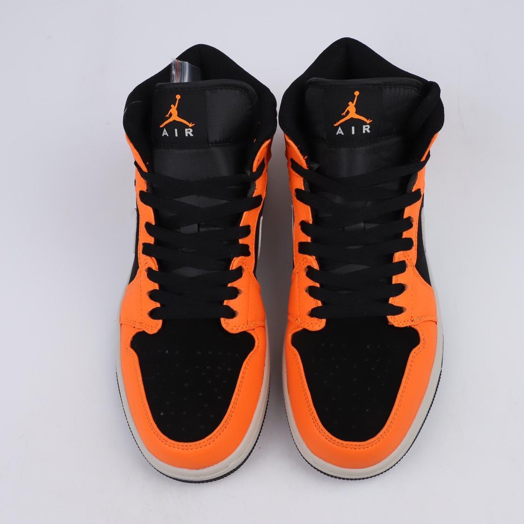 Air Jordan 1 Retro Mid GS Orange Black 7