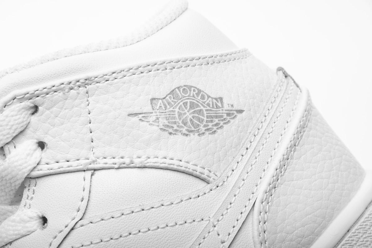 Air Jordan 1 Retro Mid GS Pure Platinum 2