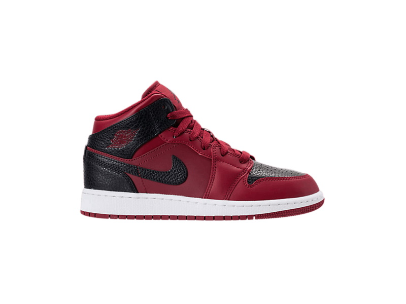 Air Jordan 1 Retro Mid GS Team Red Black