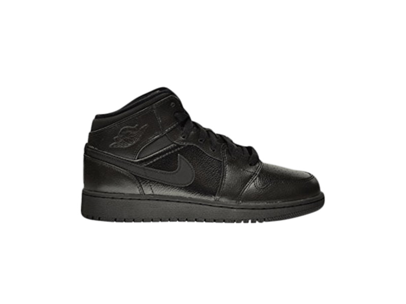 Air Jordan 1 Retro Mid GS Triple Black