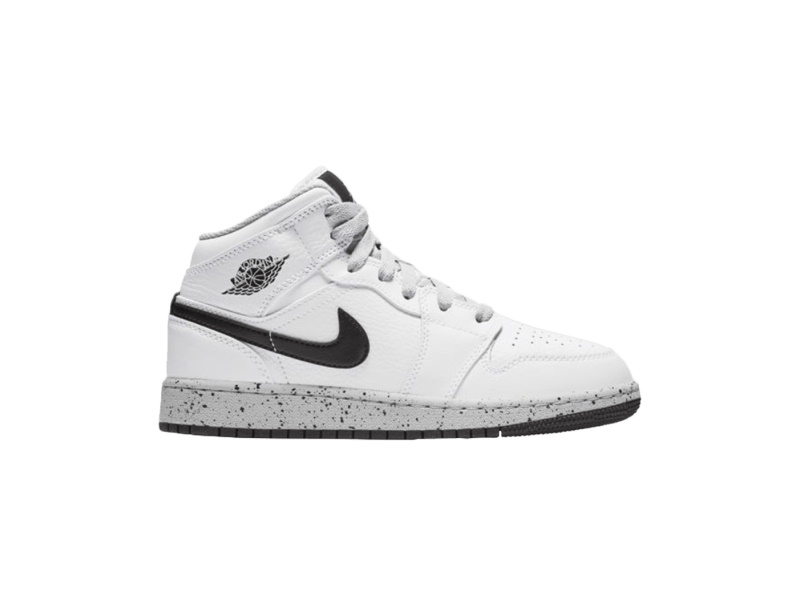 Air Jordan 1 Retro Mid GS White Cement