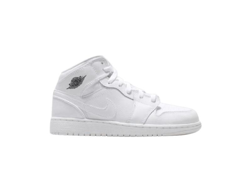 Air Jordan 1 Retro Mid GS White Cool Grey 1