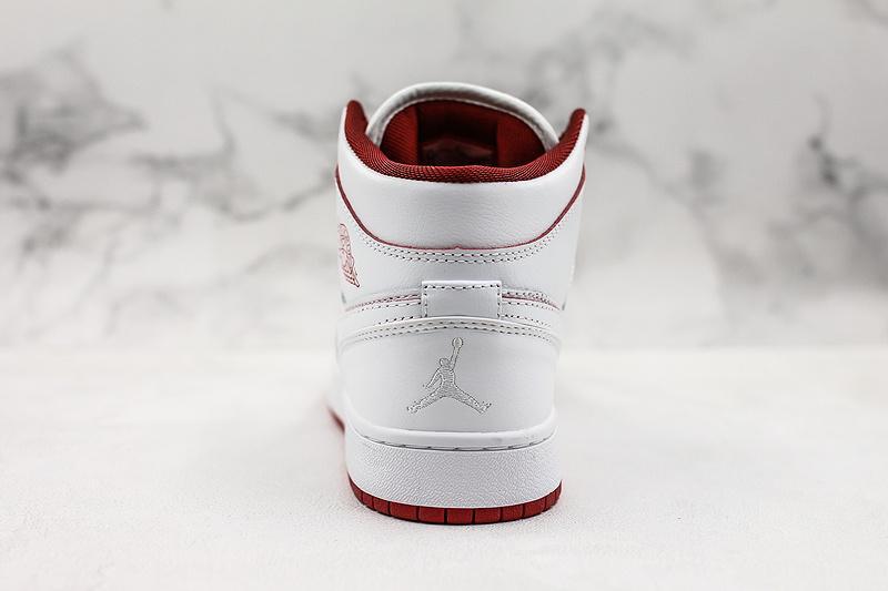 Air Jordan 1 Retro Mid GS White Gym Red 2