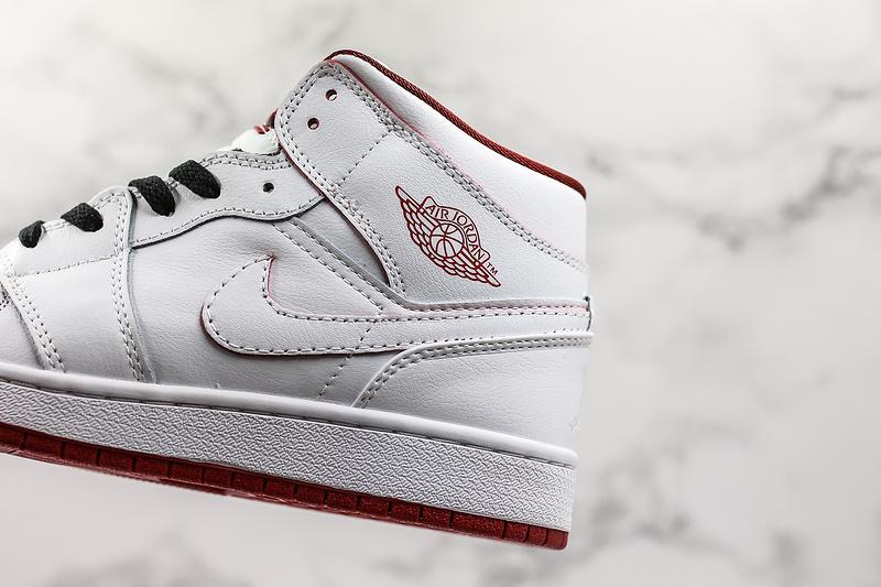 Air Jordan 1 Retro Mid GS White Gym Red 3