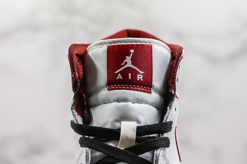 Air Jordan 1 Retro Mid GS White Gym Red 5