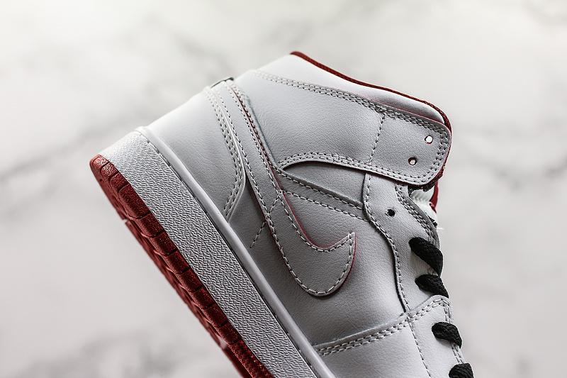 Air Jordan 1 Retro Mid GS White Gym Red 6