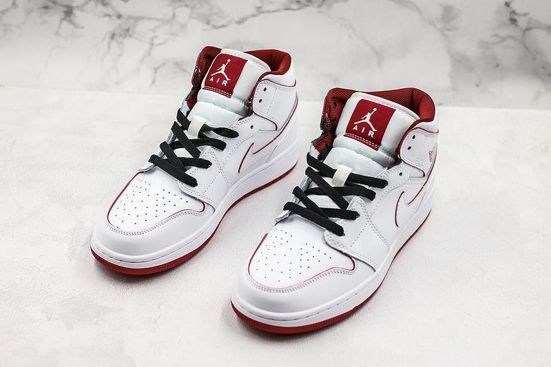 Air Jordan 1 Retro Mid GS White Gym Red 7