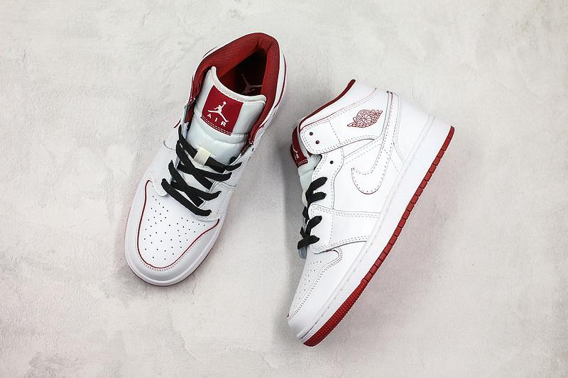 Air Jordan 1 Retro Mid GS White Gym Red 8