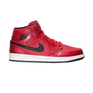 Air Jordan 1 Retro Mid Gym Red Black Patent