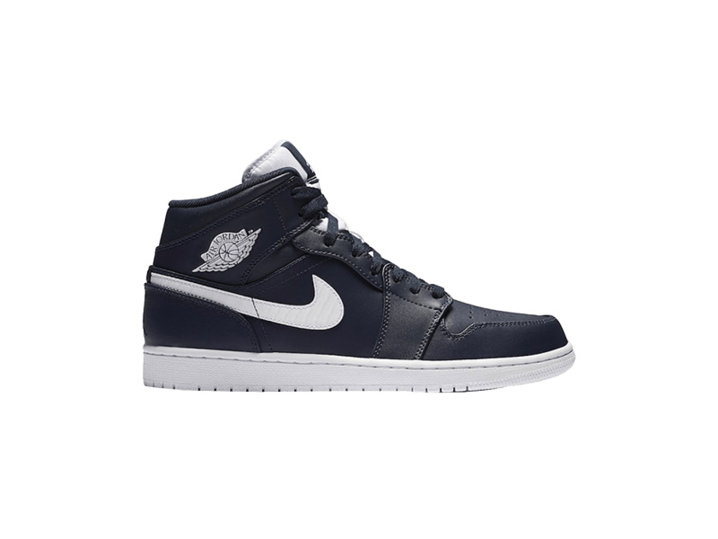 Air Jordan 1 Retro Mid Obsidian White