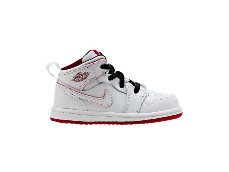 Air Jordan 1 Retro Mid TD White Red