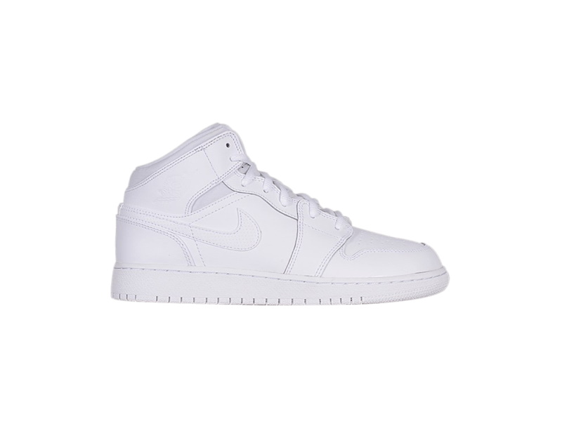 Air Jordan 1 Retro Mid White 2017 GS