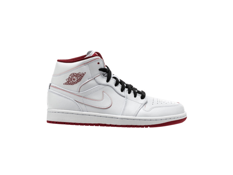Air Jordan 1 Retro Mid White Gym Red