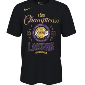 2020 Los Angeles Lakers NBA Champions Locker Room T Shirt