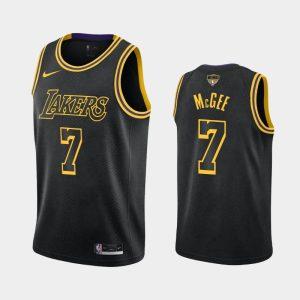 2020 NBA Finals Bound Lakers JaVale Mc Gee 7 Black Kobe Tribute City