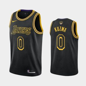 2020 NBA Finals Bound Lakers Kyle Kuzma 0 Black Kobe Tribute City