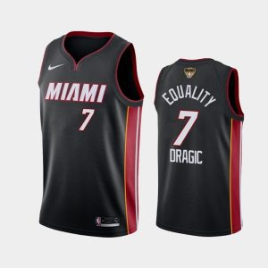 2020 NBA Finals Bound Miami Heat Goran Dragic 7 Black Equality Icon