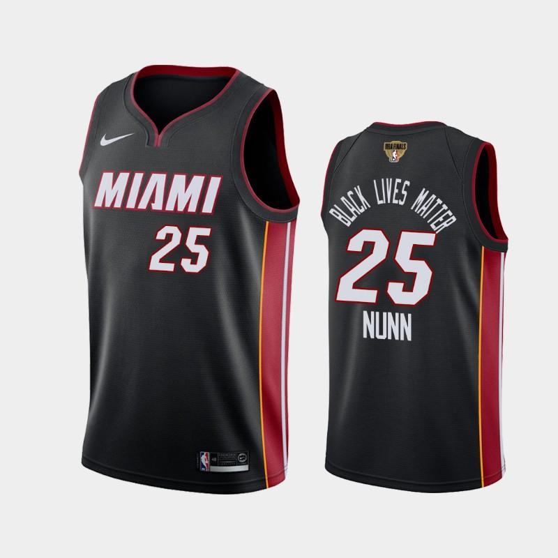 2020 NBA Finals Bound Miami Heat Kendrick Nunn 25 Black BLM Icon