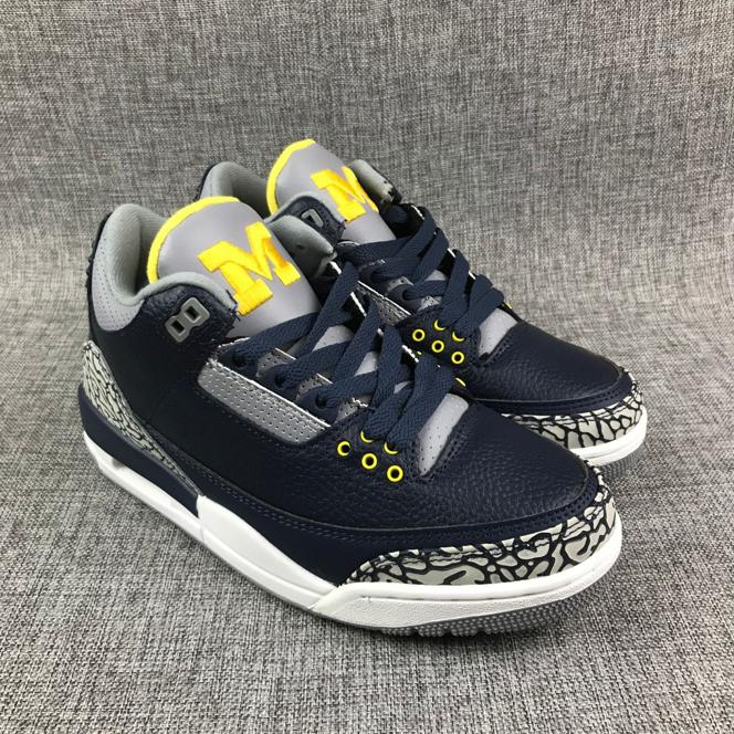 Air Jordan 3 Retro Michigan PE 1