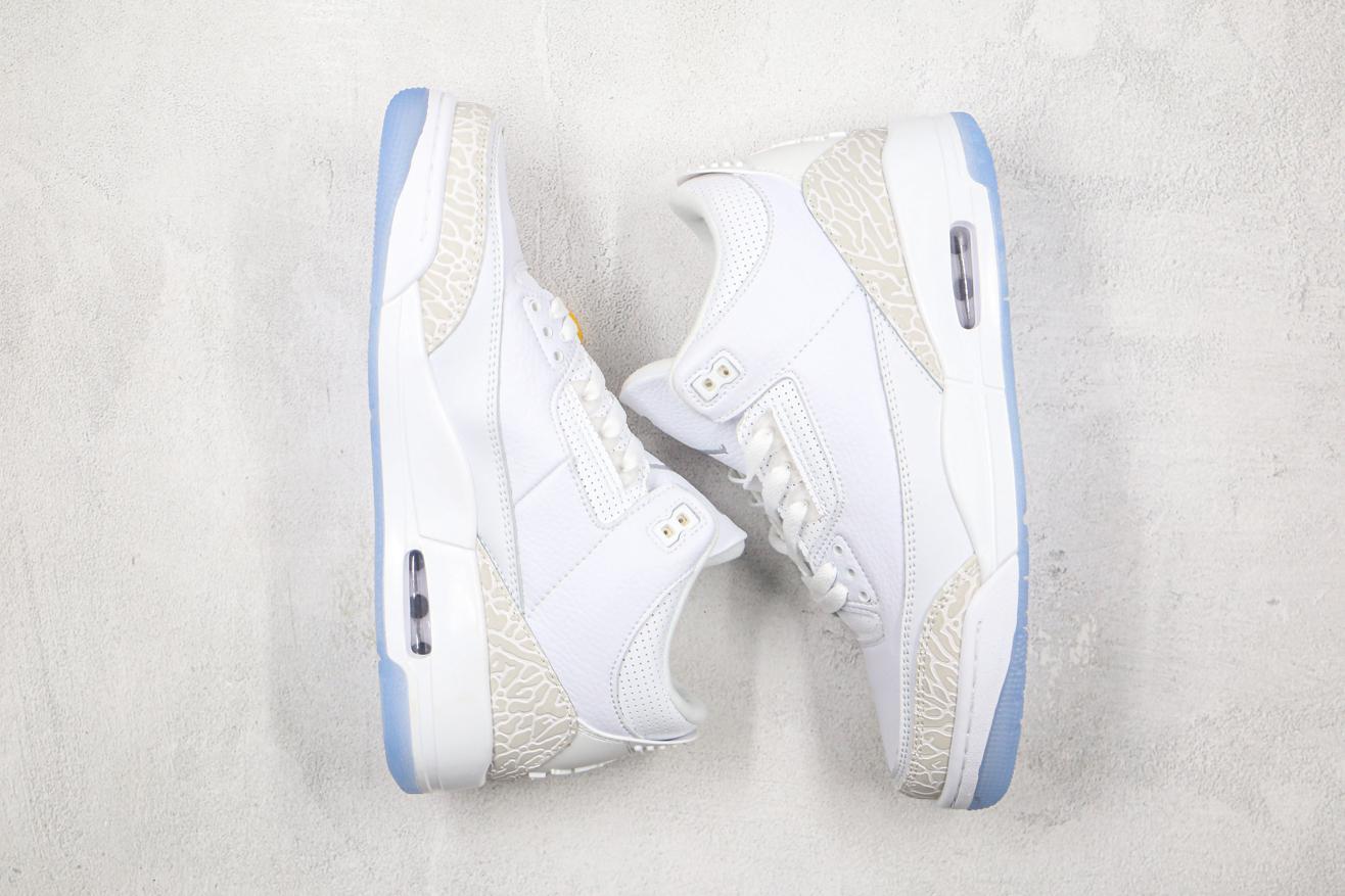 Air Jordan 3 Retro Triple White 8