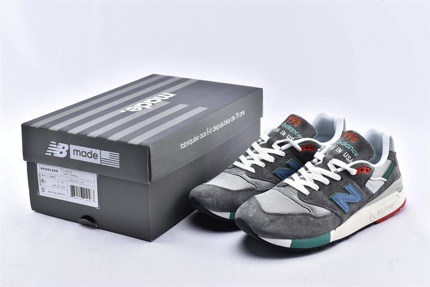 New Balance 998 Grey Green Blue 10