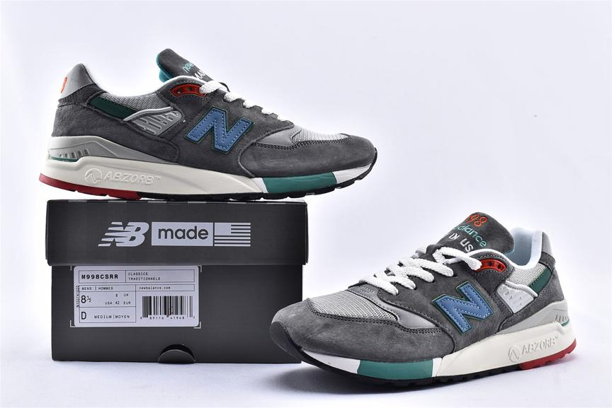 New Balance 998 Grey Green Blue 11