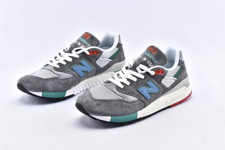 New Balance 998 Grey Green Blue 5