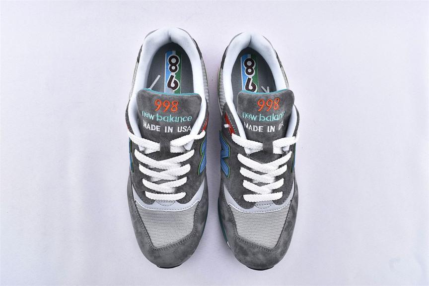 New Balance 998 Grey Green Blue 6