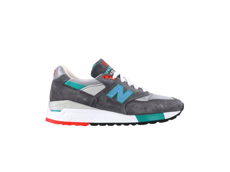 New Balance 998 Grey Green Blue
