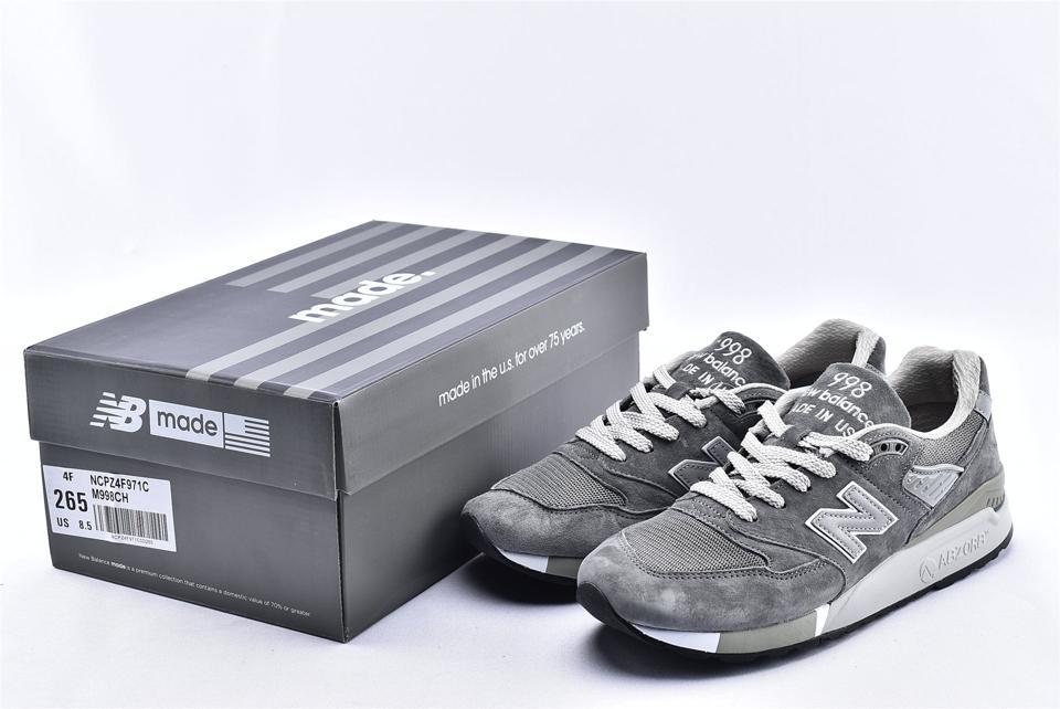 New Balance 998 Grey White 10