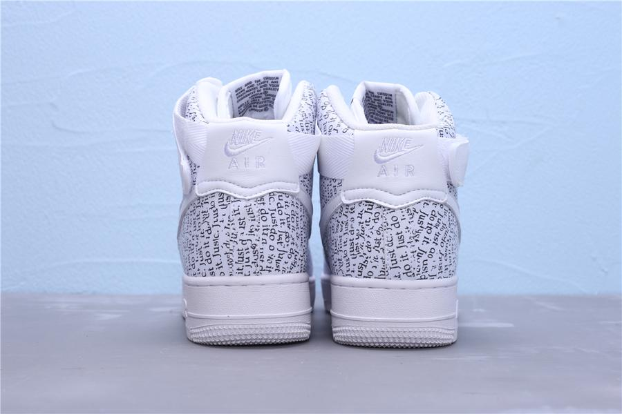 Nike Air Force 1 High Just Do It Pack White W 2