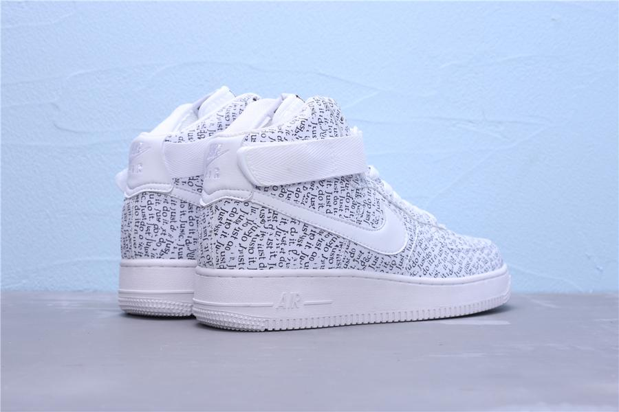Nike Air Force 1 High Just Do It Pack White W 3