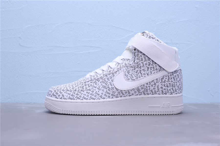 Nike Air Force 1 High Just Do It Pack White W 4