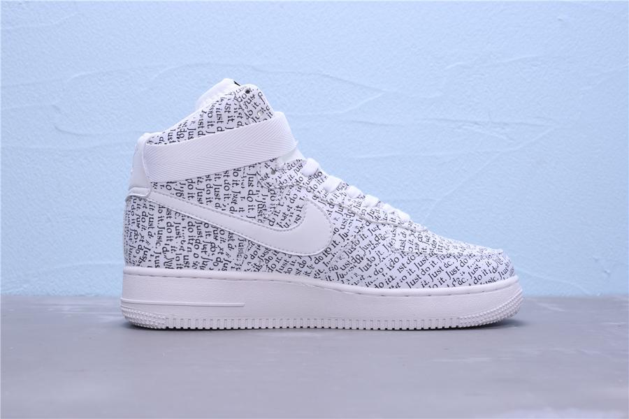 Nike Air Force 1 High Just Do It Pack White W 5