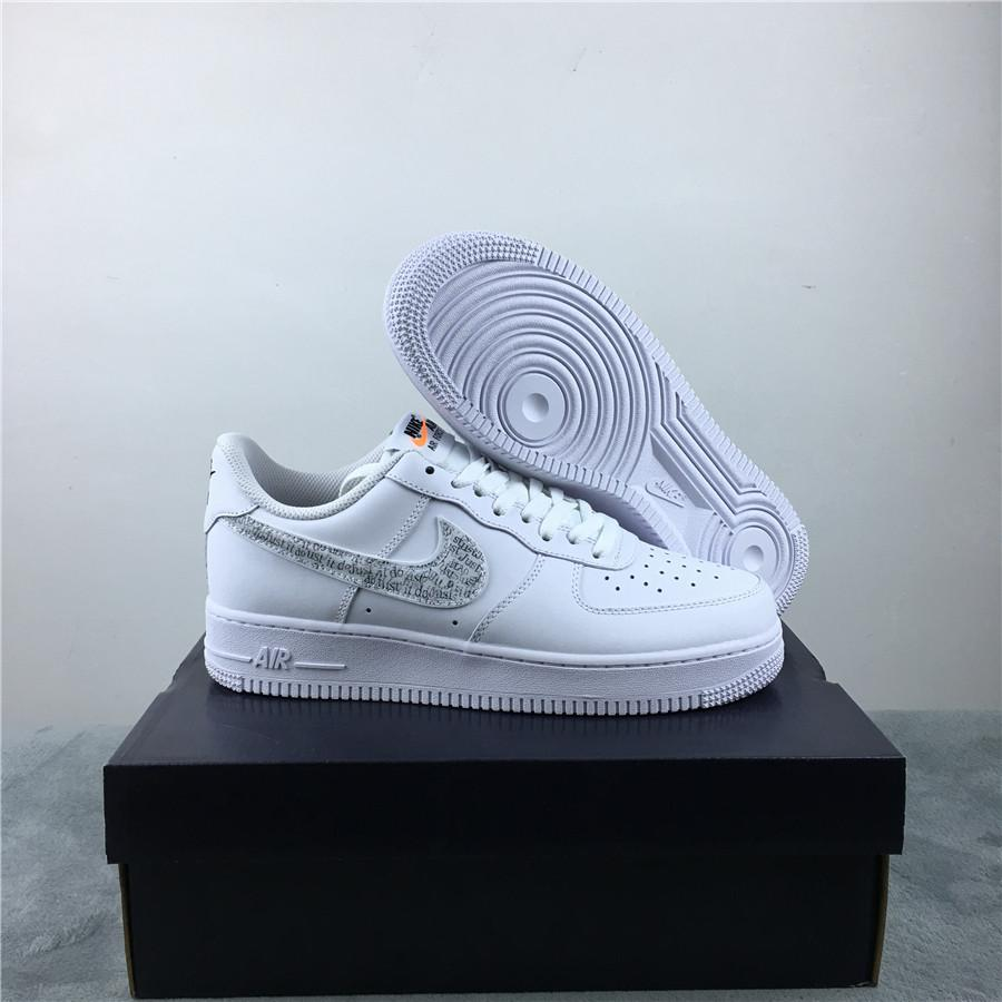 Nike Air Force 1 Low Just Do It Pack White Clear 5