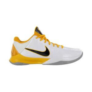 Nike Zoom Kobe 5 White Black Del Sol