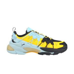 Puma LQDCELL Omega Striped Knit Black Ultra Yellow