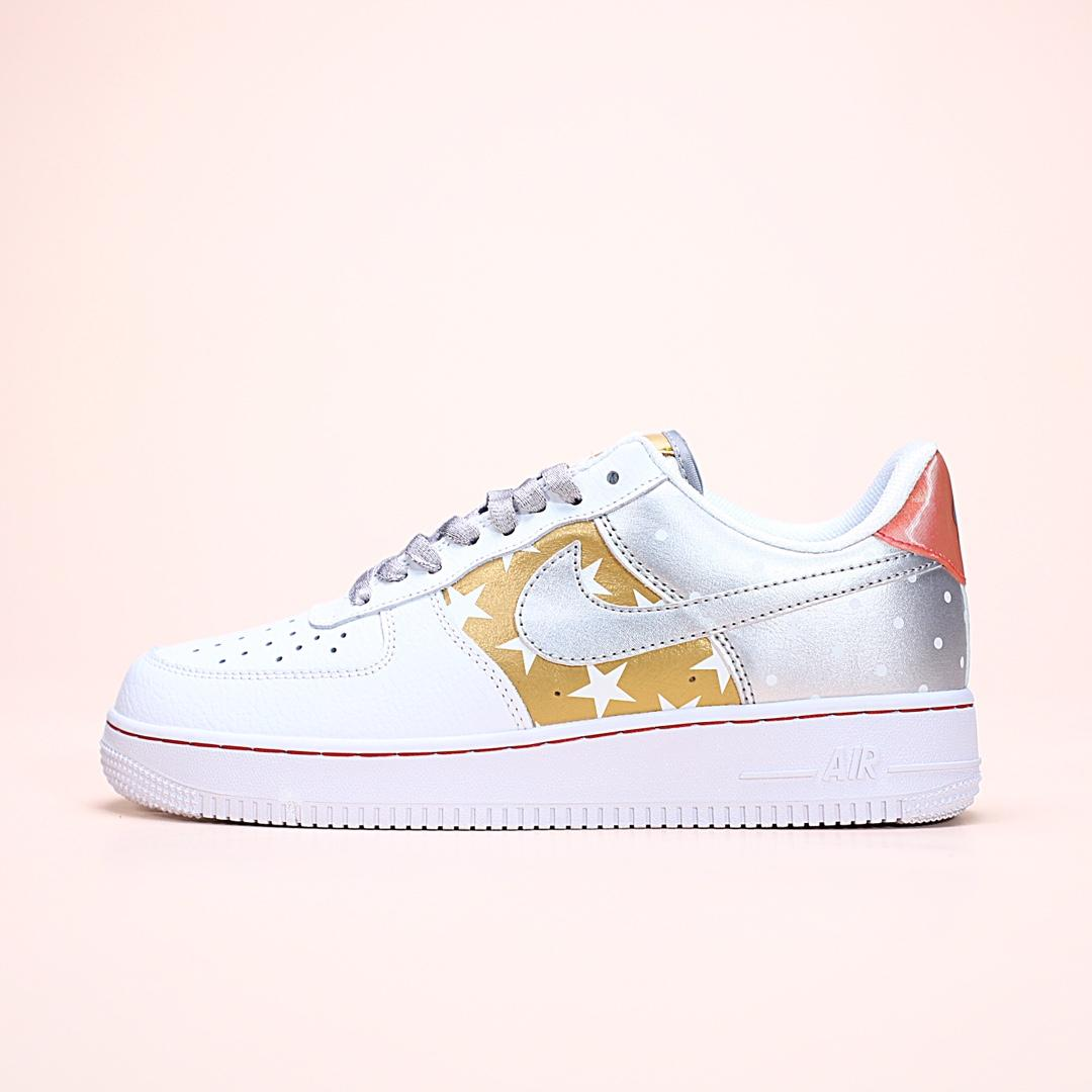 Wmns Air Force 1 Low Metallic Gold 1