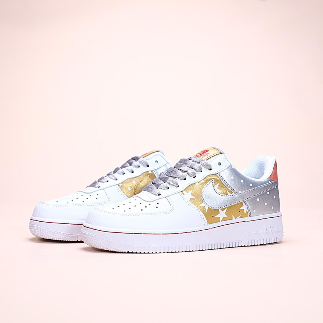 Wmns Air Force 1 Low Metallic Gold 2