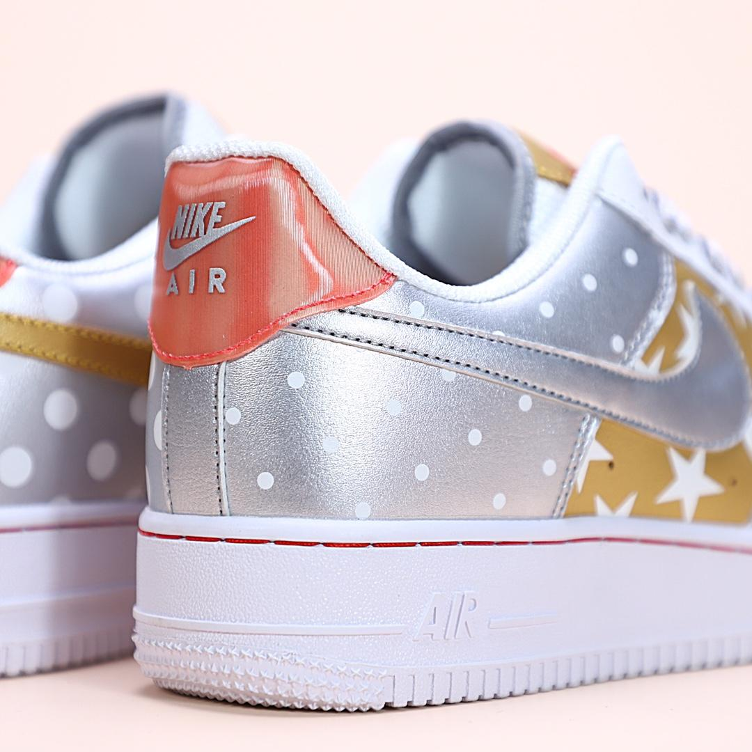 Wmns Air Force 1 Low Metallic Gold 3