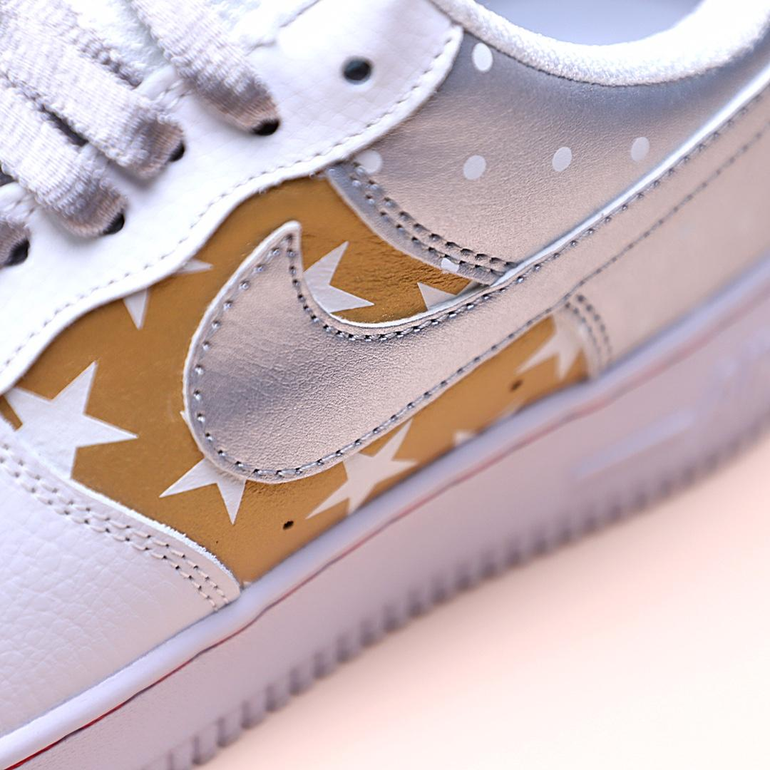 Wmns Air Force 1 Low Metallic Gold 5
