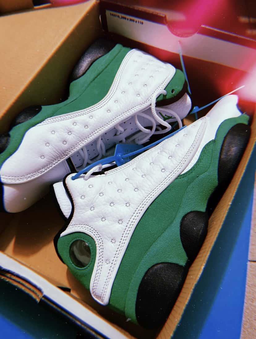 Air Jordan 13 Retro GS Lucky Green 8