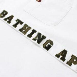 BAPE 1st Camo Applique Oxford Bd Shirt Shirt White 2